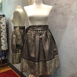 Alessandro Della Aqua skirt midi metallic size 42